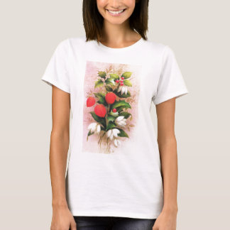 Vintage Christmas, Flowers and berries T-Shirt