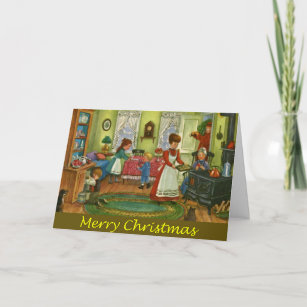 Folk Art Christmas Cards | Zazzle UK