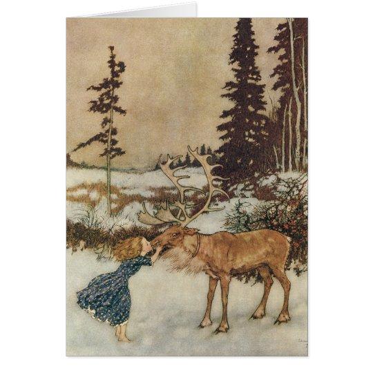 Vintage Christmas, Gerda and the Reindeer by Dulac