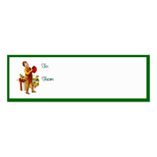 Vintage Christmas Gift Tags 1 Business Card Templates