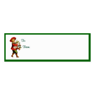 Vintage Christmas Gift Tags #2 Pack Of Skinny Business Cards