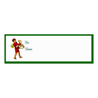 Vintage Christmas Gift Tags #4 Pack Of Skinny Business Cards