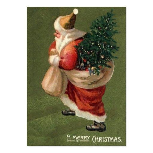 Vintage Christmas Gift Tags Business Card Templates