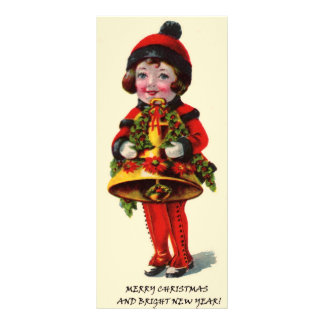Vintage Christmas Girl Personalized Rack Card