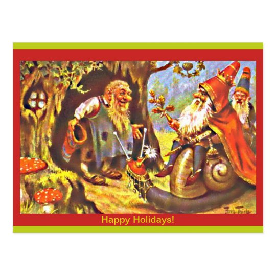 Vintage Christmas Gnomes Postcard (copy) by Thiele