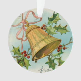 Vintage Christmas Gold Bells Ornament