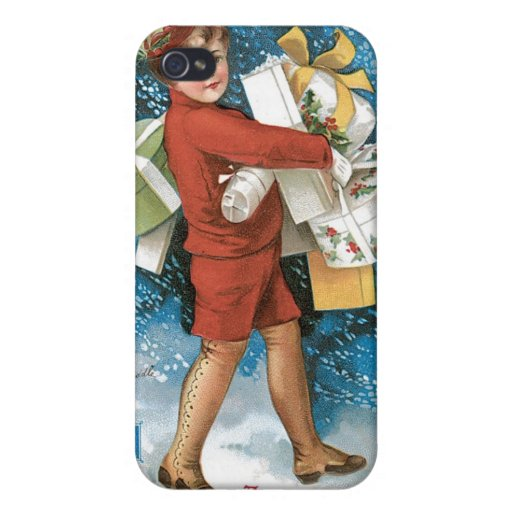 Vintage Christmas Greeting iPhone 4 Cases