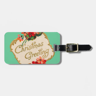 Vintage Christmas Greeting Personalized Bag Tags