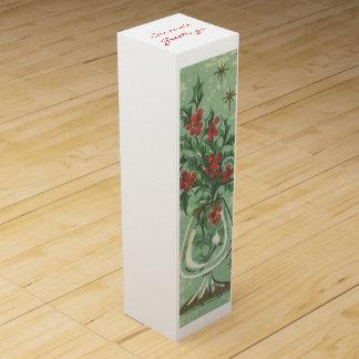 Vintage Christmas Greeting Wine Box