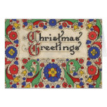 Vintage Christmas Greetings with Decorative Border
