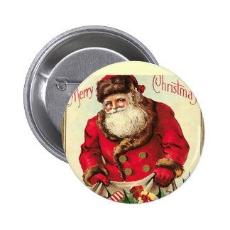 Vintage  Christmas Holiday 6 Cm Round Badge