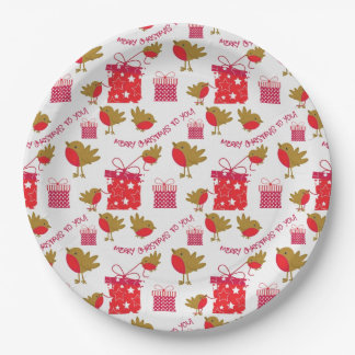vintage christmas holiday pattern paper plates 9 inch paper plate