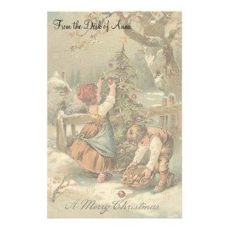 Vintage Christmas Holidays Nostalgia Old Fashioned Stationery