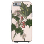 Vintage Christmas, Holly and Berries Tough iPhone 6 Case