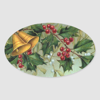 Vintage Christmas Holly Berries - Sticker