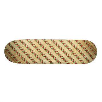 Vintage Christmas Holly Stripes 21.6 Cm Old School Skateboard Deck