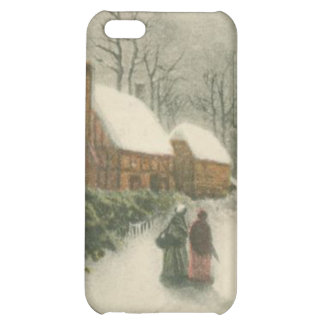Vintage Christmas Home with Snow iPhone 5C Cover