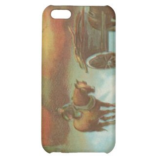 Vintage Christmas Horse Buggie Cover For iPhone 5C