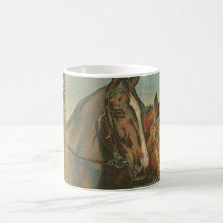Vintage Christmas Horses Coffee Mug