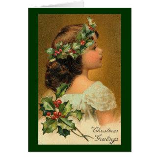 Vintage Christmas Image Greeting Card