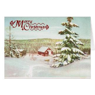 Vintage Christmas in Norway 1950 Card