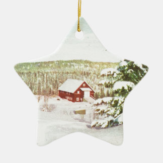 Vintage Christmas in Norway, 1950 Ceramic Star Decoration