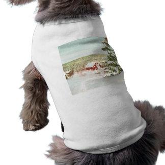Vintage Christmas in Norway 1950 Pet T Shirt