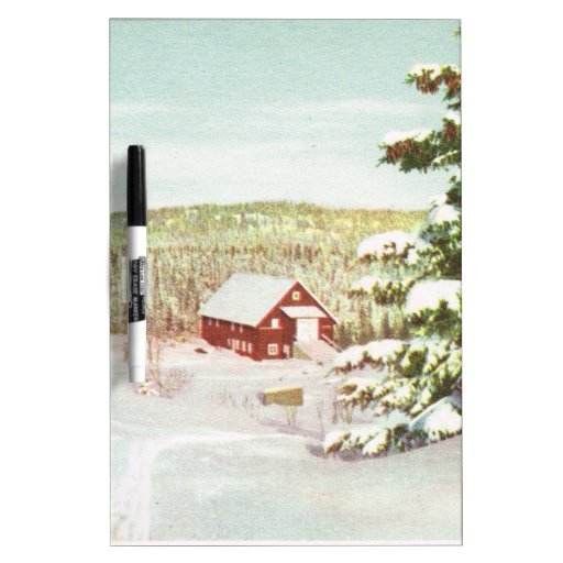 Vintage Christmas in Norway, 1950 Dry Erase Whiteboards