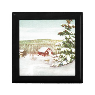 Vintage Christmas in Norway 1950 Gift Box