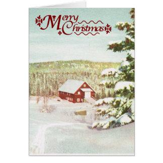 Vintage Christmas in Norway, 1950 Greeting Card