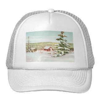 Vintage Christmas in Norway, 1950 Trucker Hat
