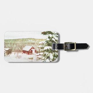 Vintage Christmas in Norway 1950 Tag For Bags