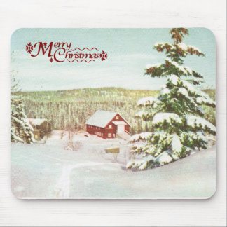 Vintage Christmas in Norway 1950 Mouse Pads
