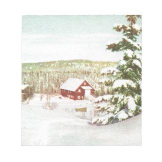Vintage Christmas in Norway 1950 Memo Notepads