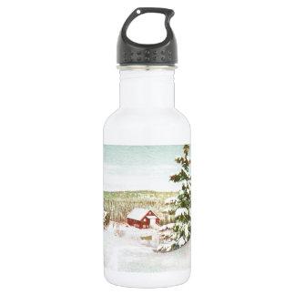 Vintage Christmas in Norway, 1950 532 Ml Water Bottle