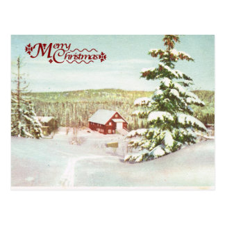 Vintage Christmas in Norway, 1950 Postcard
