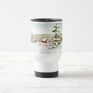 Vintage Christmas in Norway, 1950 Stainless Steel Travel Mug