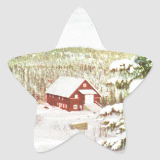 Vintage Christmas in Norway, 1950 Star Sticker