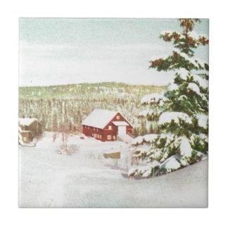 Vintage Christmas in Norway, 1950 Tile