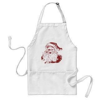 Vintage Christmas, Jolly Santa Claus RED Standard Apron