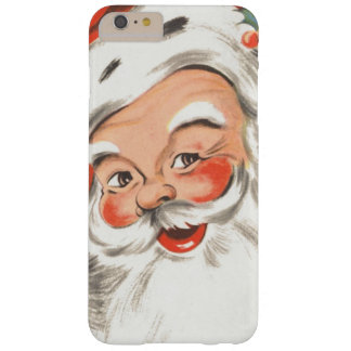 Vintage Christmas, Jolly Santa Claus with Smile Barely There iPhone 6 Plus Case