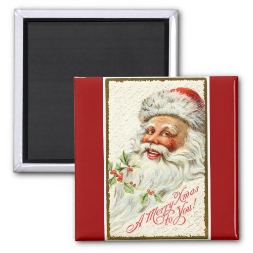 Vintage Christmas Jolly Santa Fridge Magnet