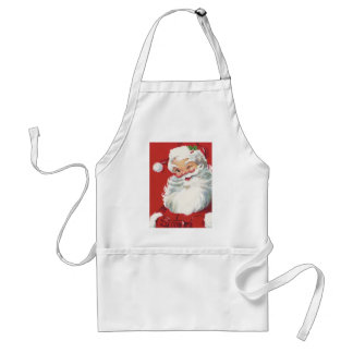 Vintage Christmas, Jolly Winking Santa Claus Standard Apron