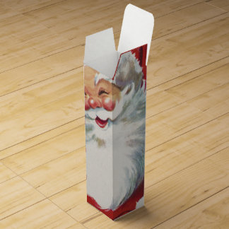 Vintage Christmas, Jolly Winking Santa Claus Wine Gift Box