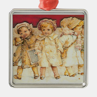 Vintage Christmas Kids Ornament