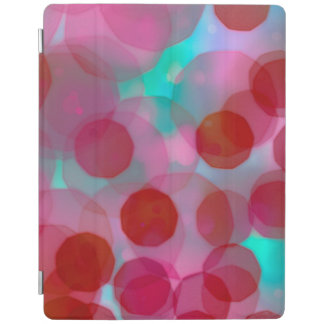 Vintage Christmas Lights Background. Pink & Blue iPad Cover