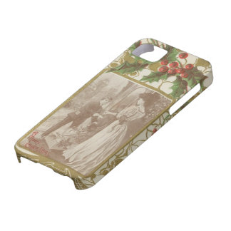 Vintage Christmas Love and Holly iPhone 5 Case