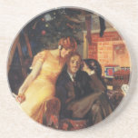 Vintage Christmas, Love and Romance Coaster
