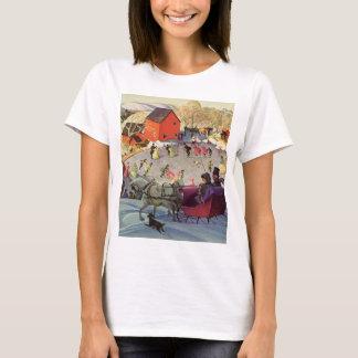 Vintage Christmas, Love and Romance Sleigh T-Shirt