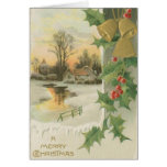 Vintage Christmas Morning Winter Scenery Greeting Cards